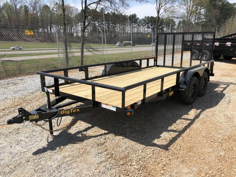 "2021 Big Tex 70PI-16 - 7K Tandem Axle Pipe Top Utility Trailer 83"" X 16'"