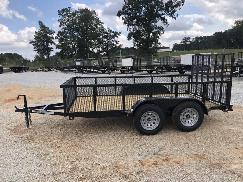 """2021 Superior 6 x 12 Elite Tandem Axle Utility Trailer with 24"""" Mesh Sides and Spring Assisted Gate"""