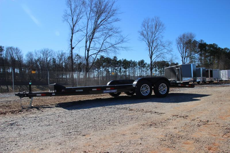 2022 Sure-Trac 7 x 20 Steel Deck Car Hauler 10k with winch plate