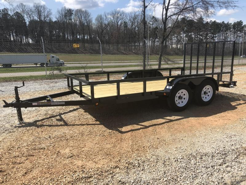 2021 Superior 6 x 14 Elite Tandem Axle Utility Trailer with Spring Assist Gate