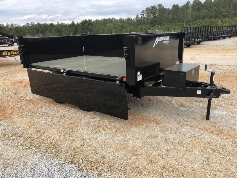 2021 Homesteader 6 x 10 10k Deckover Dump Trailer with Drop Down Side