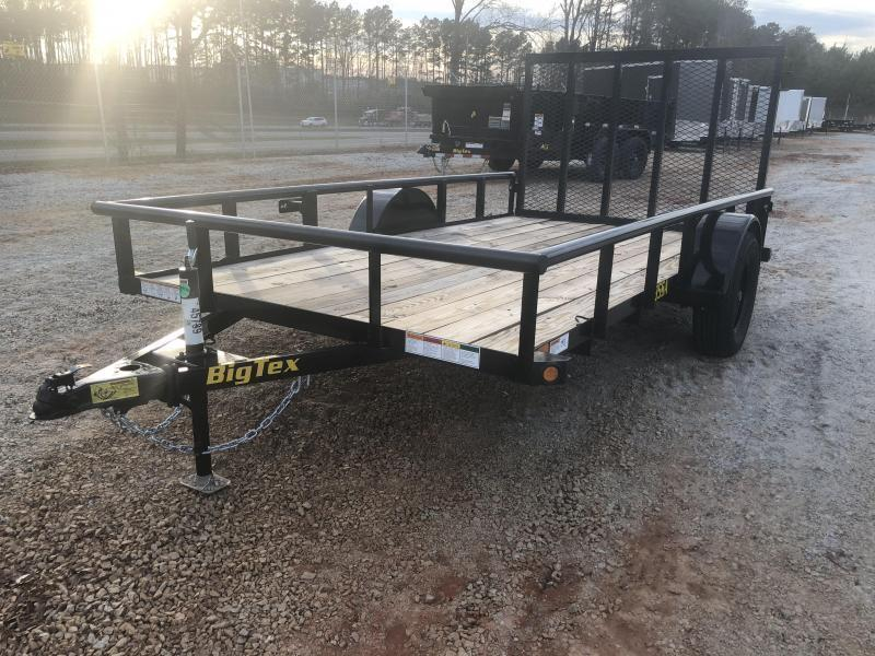 "2021 Big Tex 35SA-12 Single Axle Utility Trailer w/ 4' Ramp - 77"" X 12'"