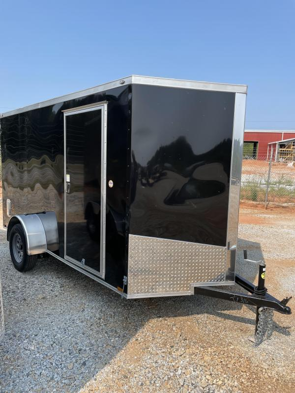 2022 Spartan 6 x 12 Black Enclosed Cargo Trailer