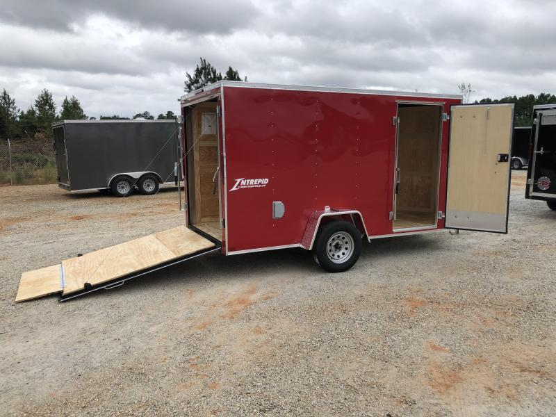 2021 Homesteader 6 x 12 Intrepid Single Axle Enclosed Cargo Trailer - Red