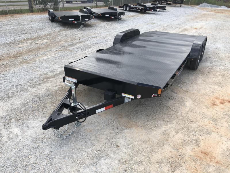 2022 Sure-Trac 7 x 20 Steel Deck Car Hauler 7k with Winch Plate