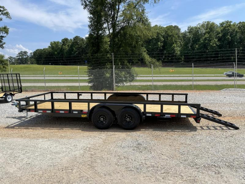 2022 Big Tex 83 X 20 10K Tandem Axle Utility Trailer with Slide Out Ramps
