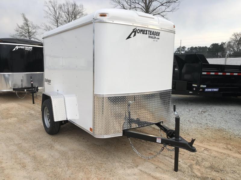 2021 Homesteader 5 x 8 White Enclosed Cargo Trailer
