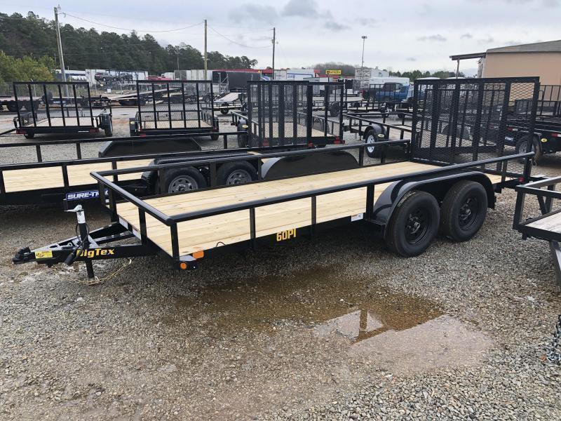 "2021 Big Tex 60PI-16 Tandem Axle Pipe Top Utility Trailer 77""x16'"