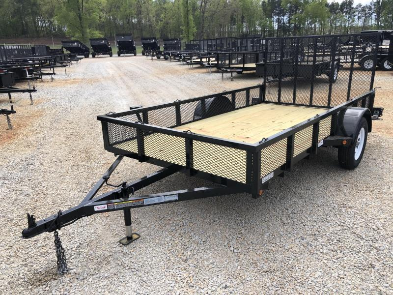 "2021 Superior 6 x 12 Elite Utility Trailer with 14"" Mesh Sides"