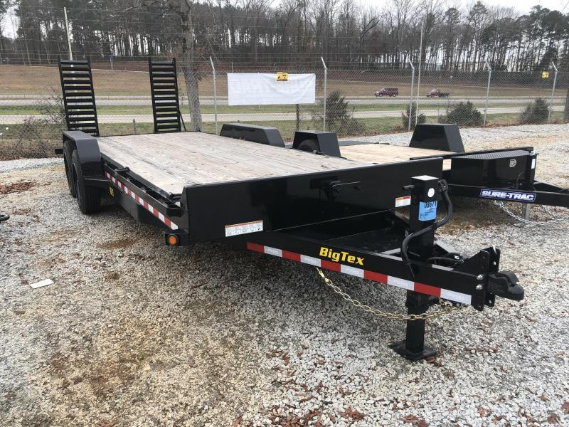 2021 Big Tex 83 X 19 + 3 Super Duty Tandem Axle Equipment Trailer w/ Cleated Dovetail