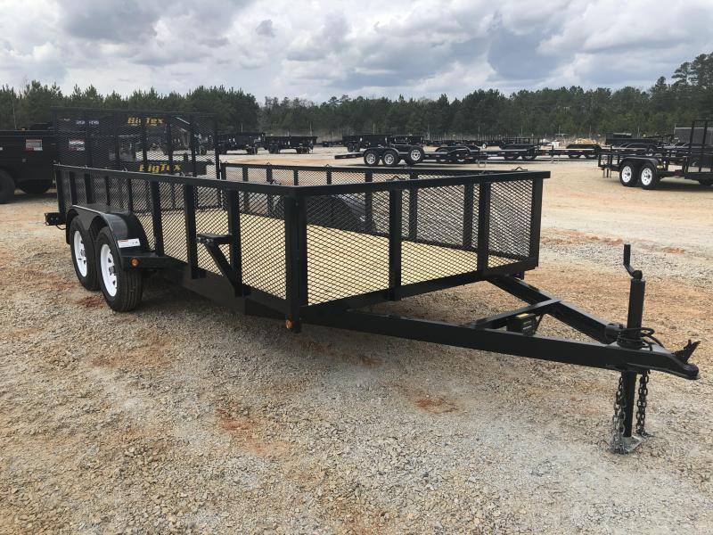"""2021 Superior 6x16 Elite Tandem Axle Utility Trailer With 24"""" Mesh Sides and Spring Assist Gate"""