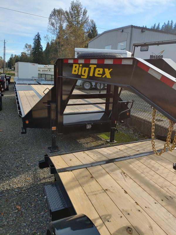 2021 Big Tex Trailers 22GN 20 + 5 WITH MEGA RAMPS!! Flatbed Trailer