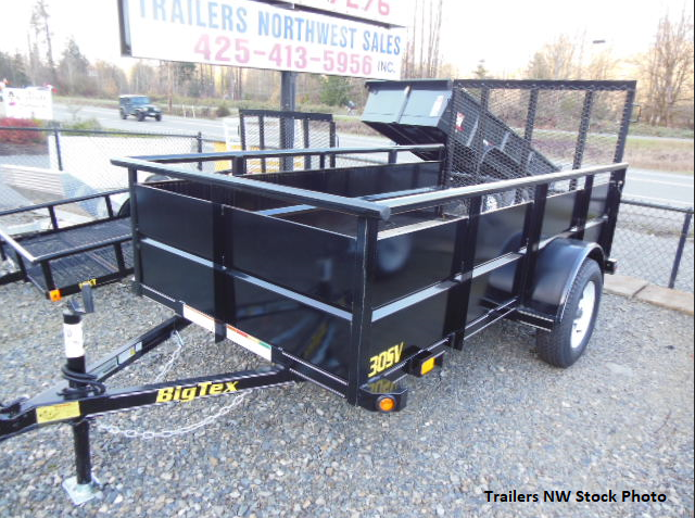 2021 Big Tex 30SV 5x10 Utility Trailer with Landscape Ramp Gate