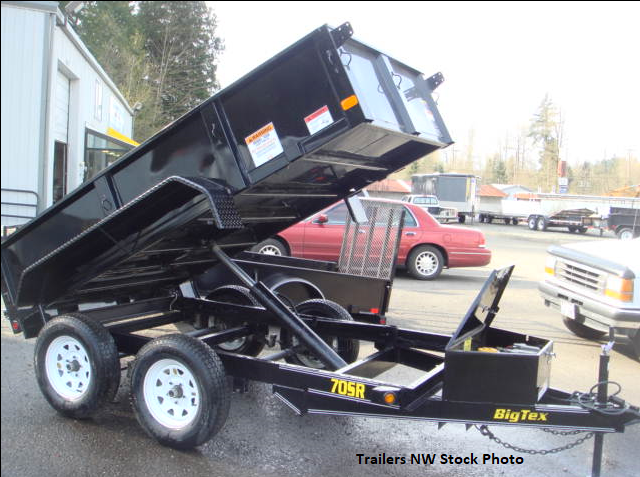 Big Tex 70SR 5x10 Single-Ram Dump Trailer