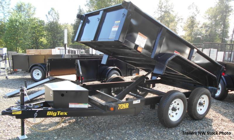 Big Tex 70SR 5x10 7K Dump Trailer - Double Rear Doors