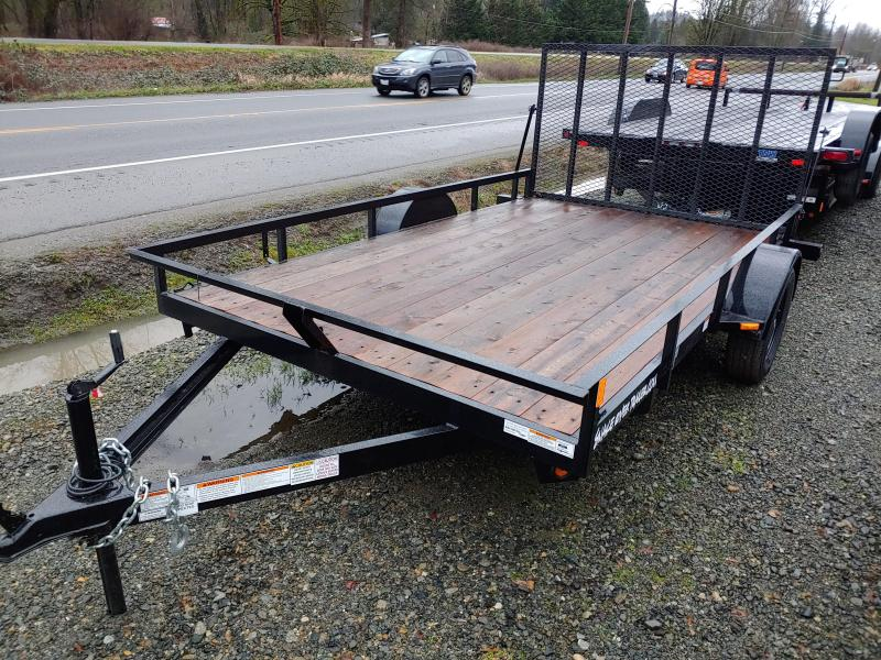 2021 Snake River 7 X 12 Open Rail Utility Trailer