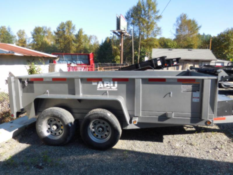 ABU 6x12 Scissor Lift 10K Dump Trailer BLACK