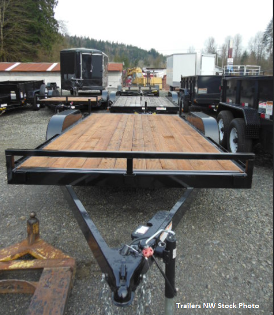Iron Eagle 7x18 10K Flatbed Trailer with Ramps