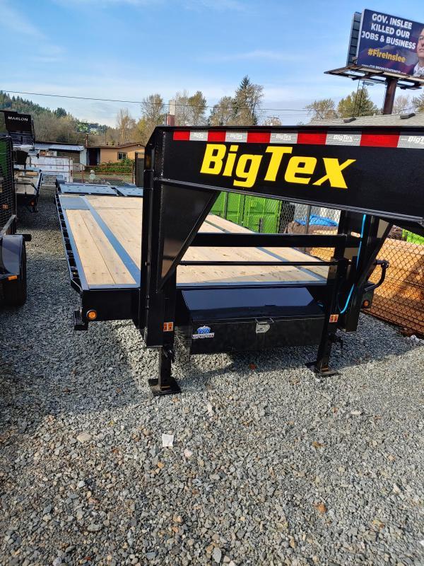 2021 Big Tex Trailers 14GN 20 + 5 W/ Mega Ramps Flatbed Trailer