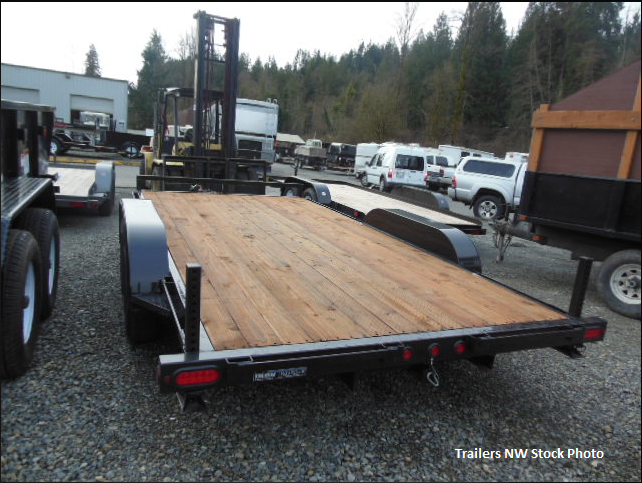 Iron Eagle 7x16 10K Flatbed Trailer with Ramps