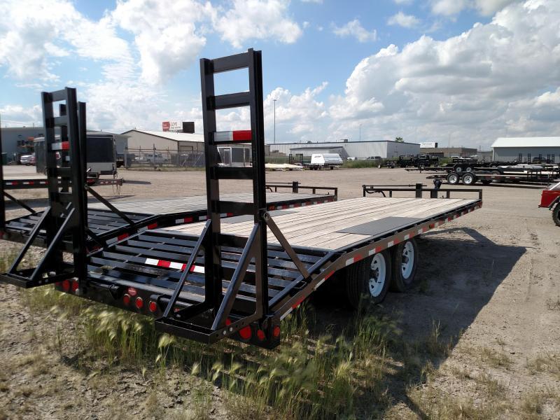 2020 PJ Trailers F8 Series 20' Deckover Flatbed Trailer