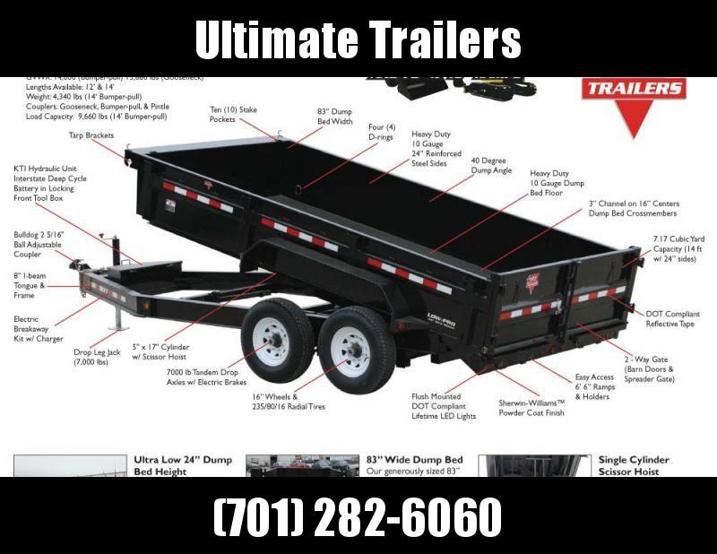 2022 PJ Trailers 83 Wide Dump - DL Series Dump Trailer