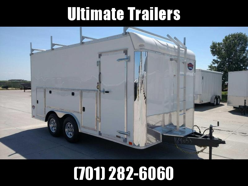2021 United 8.5x16 Enclosed Tool Crib Trailer