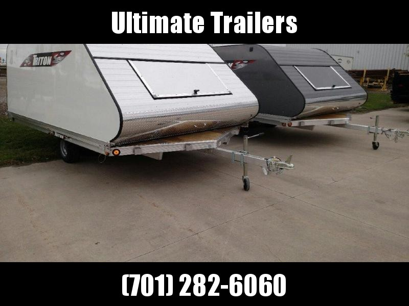 2021 Triton 8.5x12 Aluminum Triton Snowmobile Trailer w/cap