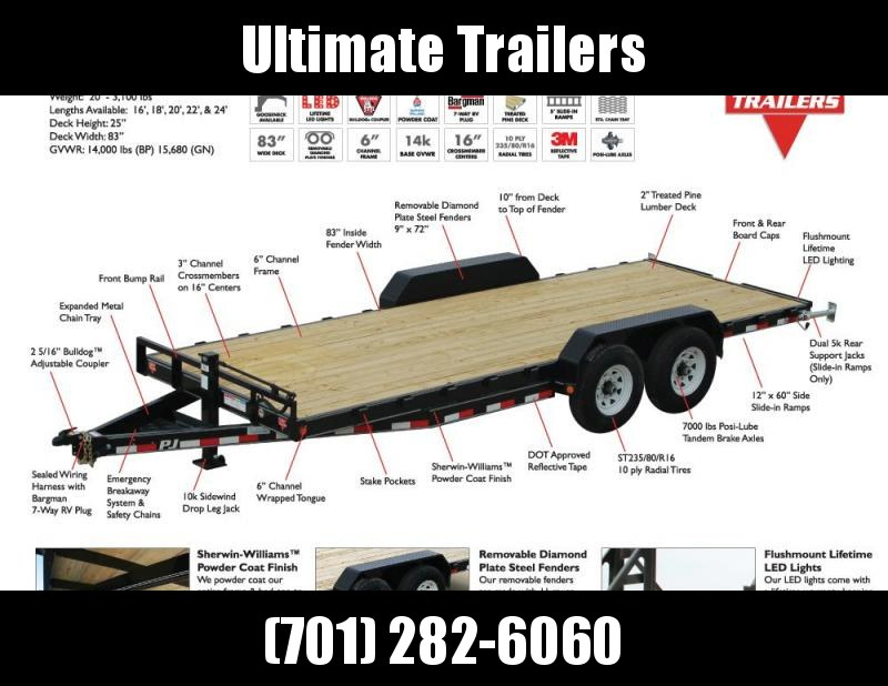 2020 PJ Trailers 6 Channel Equipment (CC) Equipment Trailer