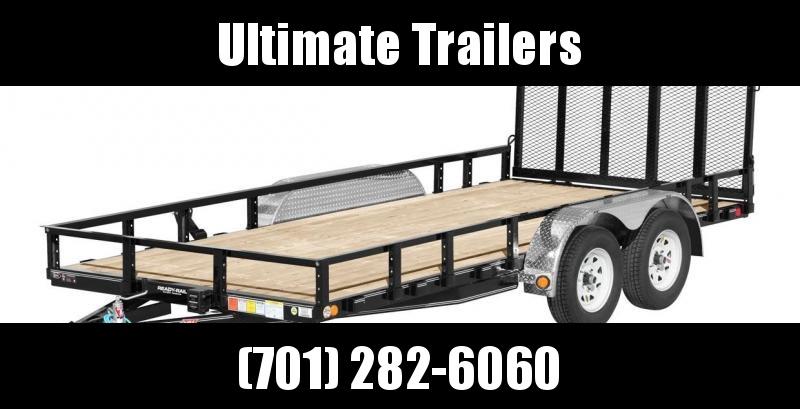 "2021 PJ Trailers 83"" Tandem Axle Channel Utility (UL)"