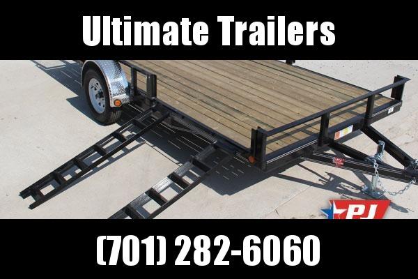 2021 PJ Trailers U821431DSBKAT Utility Trailer