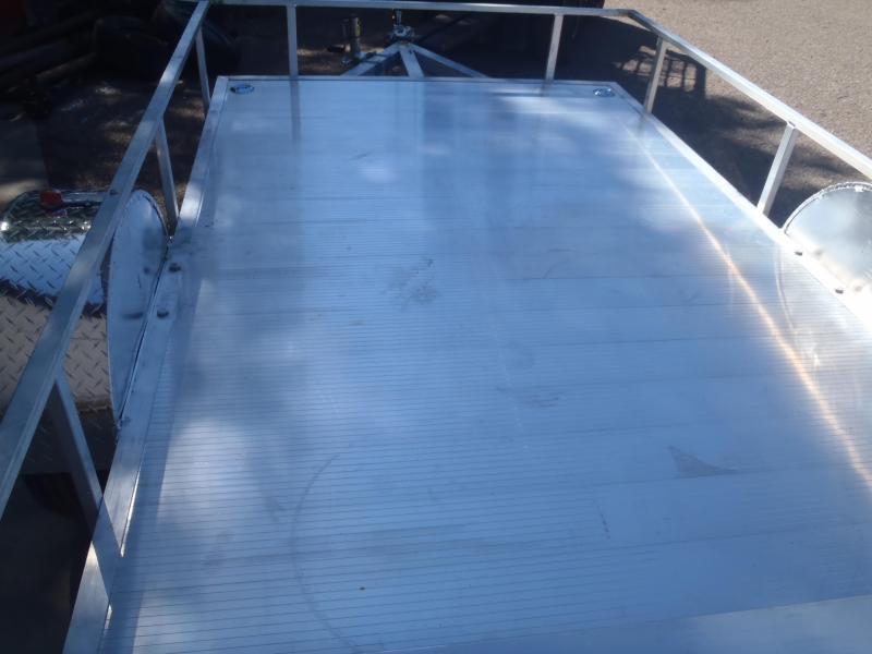6X10 Aluminum Utility Trailer Angle Rail and Ramp Gate