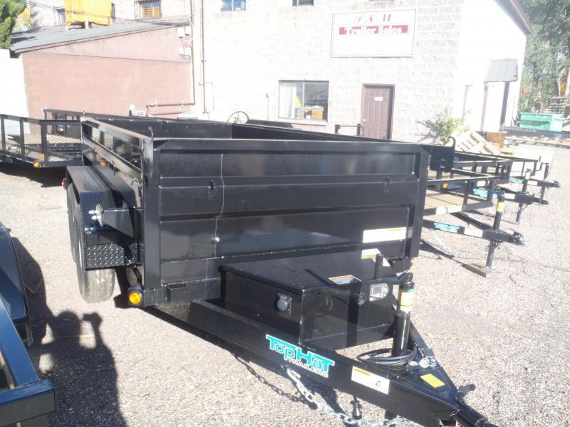 "5X10 Dump Trailer 22"" sides 7000# GVW"