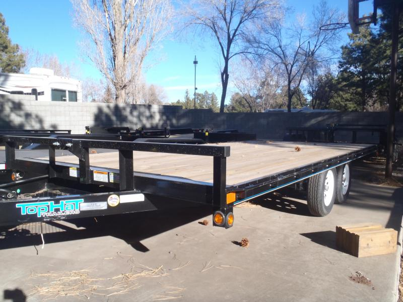 Top Hat Trailers 96X16 7000# GVW Utility Trailer Deck Over