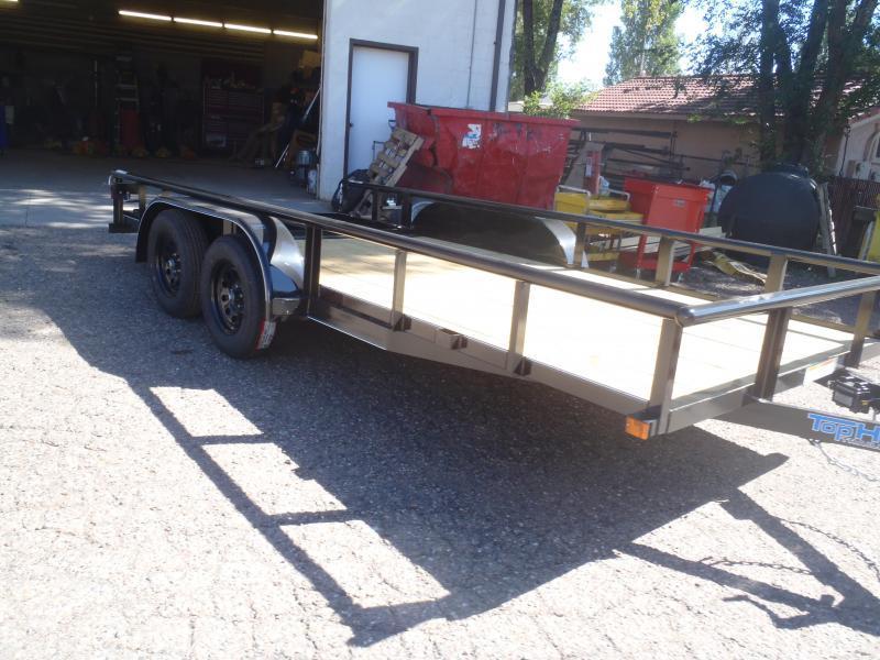 83X16 Utility Trailer  Pipe Rail and Rear Ramp Gate