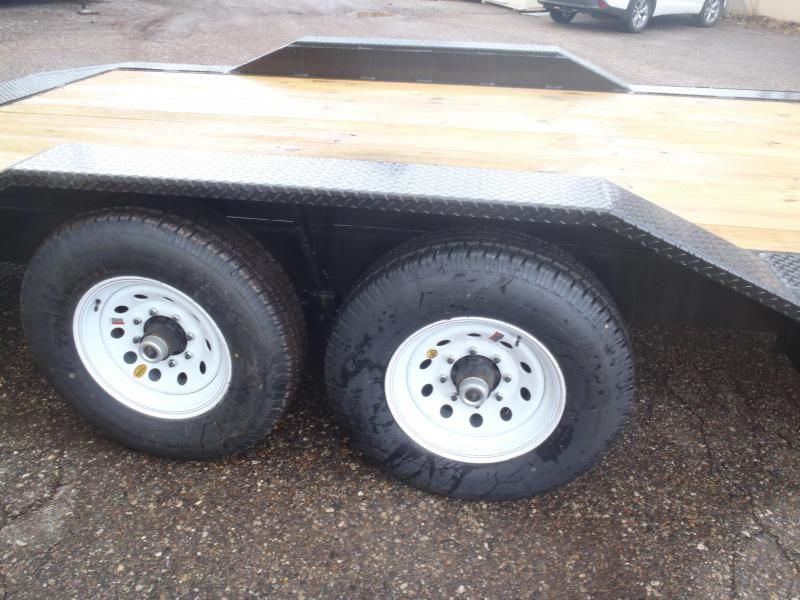 Gooseneck 102 X 22 Equipment Hauler with Drive over fenders and 5' slide in ramps