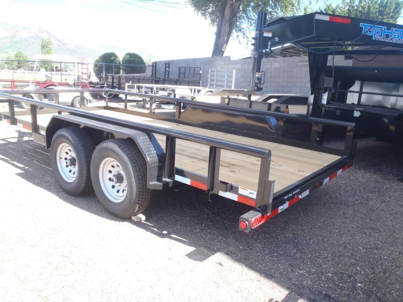 "83 X 20 10K Pipe Rail Trailer Utility Trailer 16"" Tires"