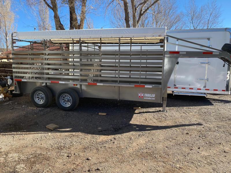 6X16 Gooseneck Stock Livestock Trailer