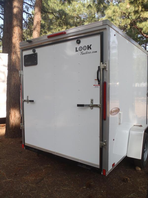 """6x10 Element Cargo Ramp Side Door 6'6"""" Tall"""