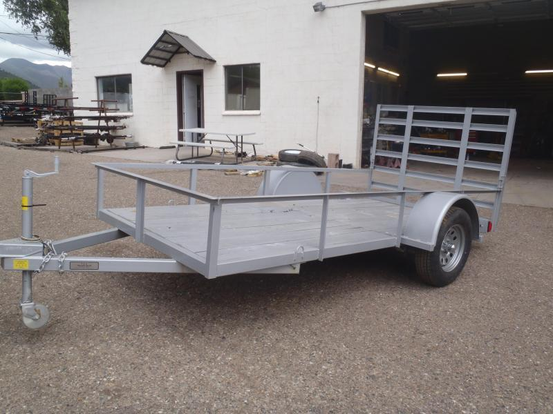 5.5X12 Utility Trailer Angle Rail and Ramp Gate