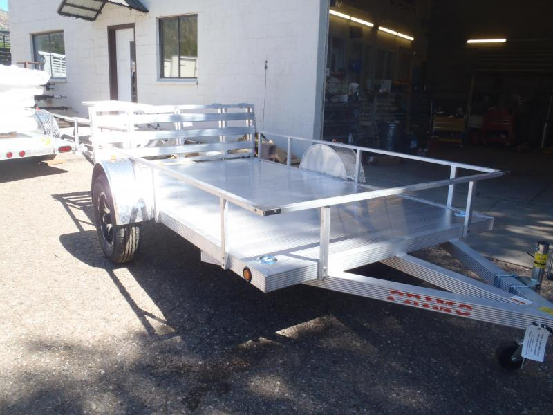 6X10 Aluminum Utility Trailer Angle Rail and Ramp Gate