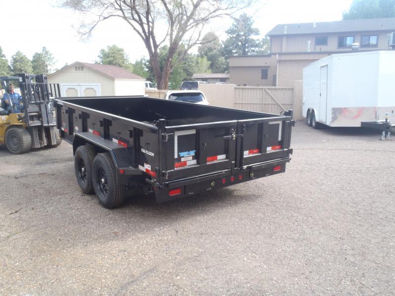 7' X 16' Low Pro 14000 lb G.V.W. Dump Trailer