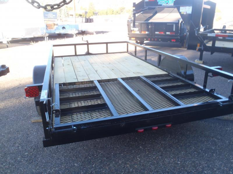 77X12 Angle Rail Trailer with ramp gate