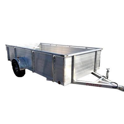 "6X12 Aluminum Utility Trailer 30"" solid sides Ramp Gate"
