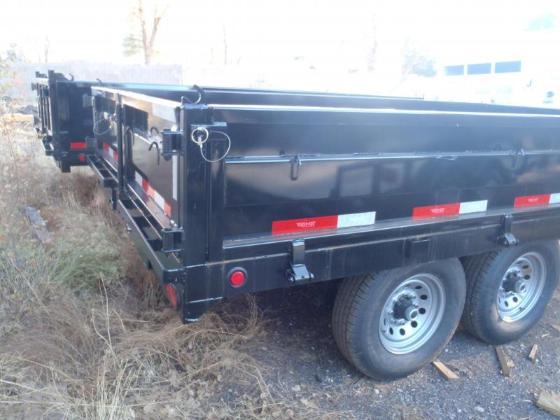 7' X 14' 14000 lb G.V.W. Drop Sides Dump Trailer