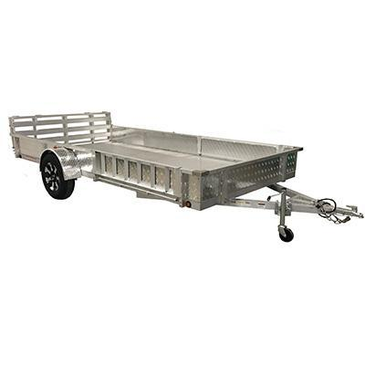 82X14 Aluminum Utility Trailer side load ramps and Ramp Gate