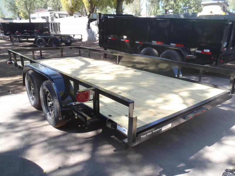 83X16 Utility Trailer  Angle Rail and Ramps