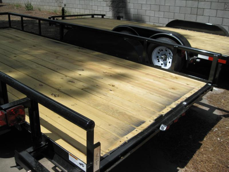 83X16 Utility Trailer  Pipe Rail and Ramps