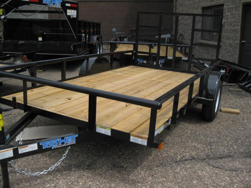 77X14 Pipe Rail Utility Trailer