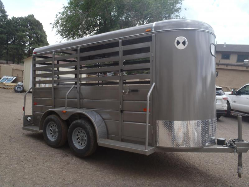 """5x14 All around Stock Trailer 6'6"""" Tall made by W-W Trailers"""